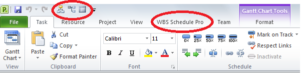 WBS Schedule Pro - WBS Charts & Network Charts Integrated
