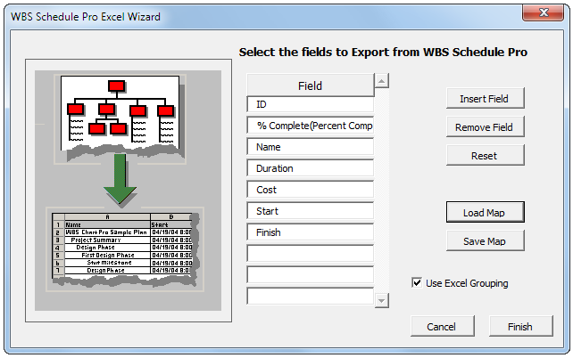 Wbs Schedule Pro Exporting Plans To Excel Chart Network Gantt Based Project Planning And Management